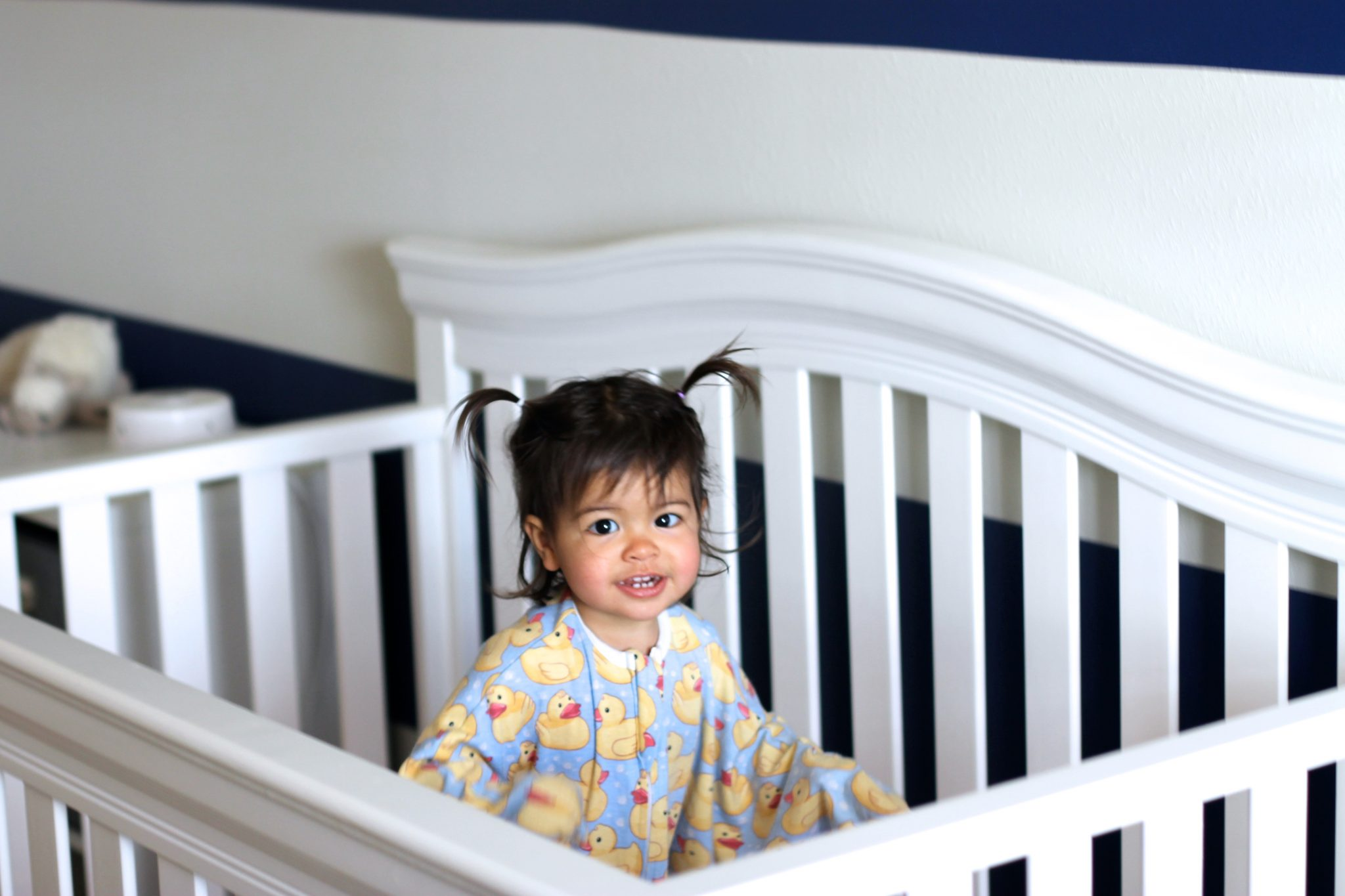 Playing in the Crib